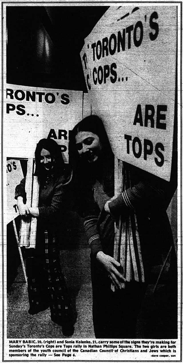 From the Toronto Sun, February 15, 1973.