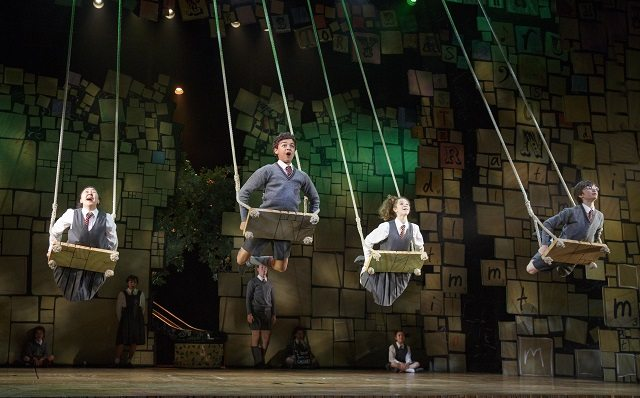 "The company sings ""When I Grow Up"" in Act II of Matilda the Musical at the Ed Mirvish Theatre. Photo by Joan Marcus."