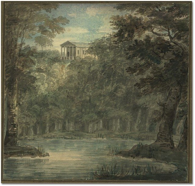 Painting of Castle Frank (also called Castlefrank), by Elizabeth Simcoe, 1796. Archives of Ontario.
