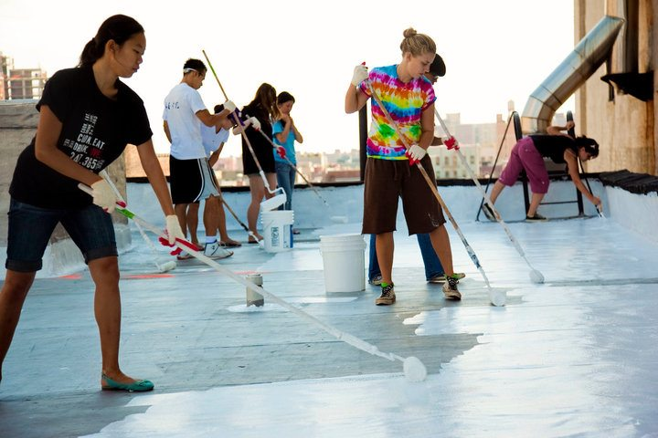 New York City's White Roof Project in action.