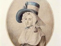 Portrait of Elizabeth Simcoe by Mary Ann Burges. Library and Archives Canada.