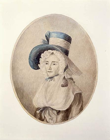 Portrait of Elizabeth Simcoe by her dear friend Mary Ann Burges, 1790. Library and Archives Canada.