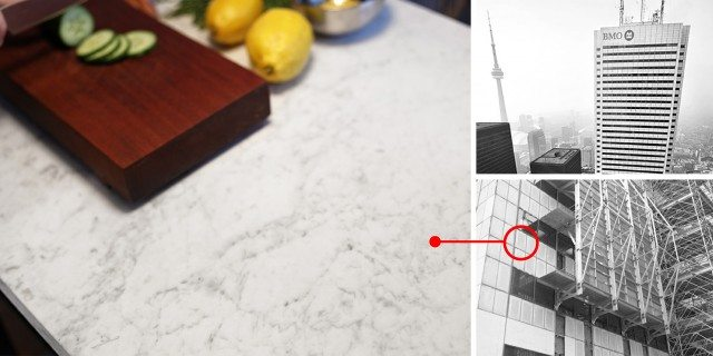 Solowski used refurbished granite from First Canadian Place for his kitchen countertop. Photo by Terence Tourangeau.