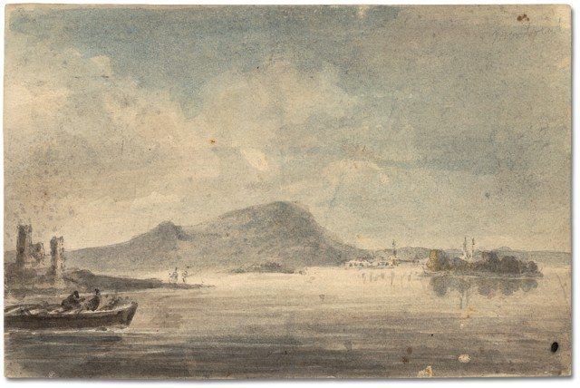 Near Montreal, Quebec, 1792, by Elizabeth Simcoe. Archives of Ontario.