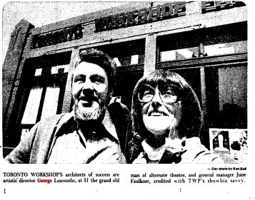 George Luscombe and general manager June Faulkner in the Star on April 22, 1978.