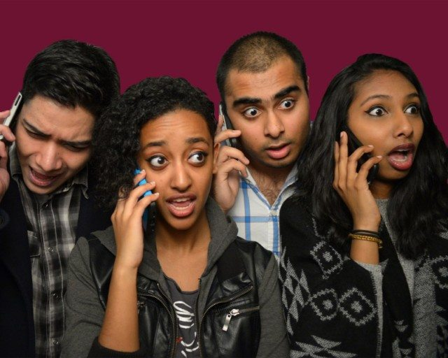 Left to right, Aleef Khan, Mary Getachew, Saad Ilyas, and Nirusha, from seXt. Photo by Fiona Saunders.