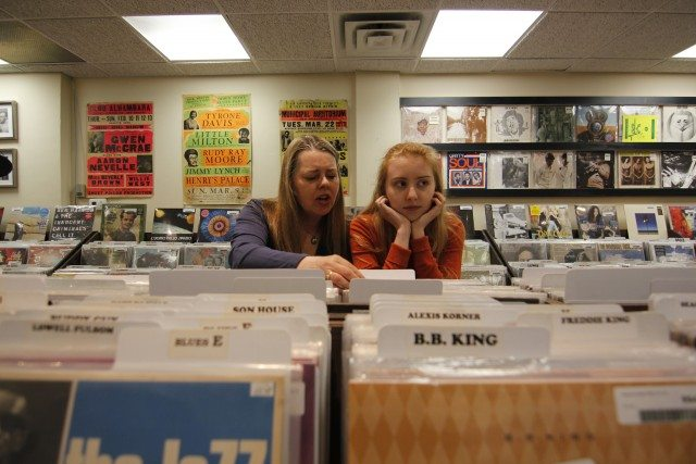Shari Hollett and Lucy Earle (left to right) at Kops Records. Image courtesy fringetoronto.com
