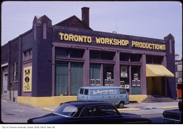 Toronto Workshop Productions Theatre on Alexander Street as seen on April 27, 1971. Photo from the Toronto Archives, Fonds 1526, File 6, Item 26 Credit: City of Toronto Archives www.toronto.ca/archives Copyright was transferred to the City of Toronto by the copyright owner.