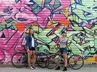 Claire McFarlane and TK TK of the Bad Girls Bike Club. Photo courtesy of Facebook.