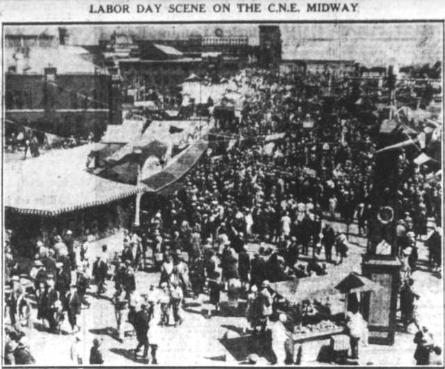 The midway.  The Toronto Telegram, September 6, 1927.