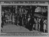 The queue to see the art exhibit at the 1927 CNE.  The Toronto Star, September 10, 1927.