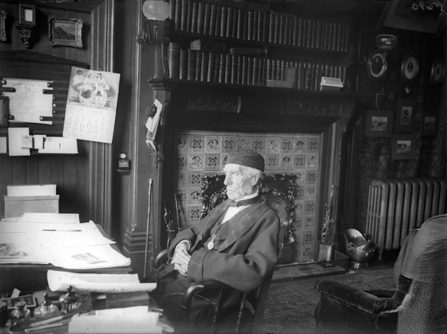 Goldwin Smith in his study at The Grange, 1909. City of Toronto Archives, Fonds 1244, Item 690.