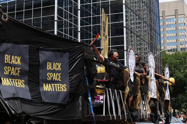 Black Lives Matter at the Pride parade in 2016. Photo courtesy of Pride Toronto/Flickr.