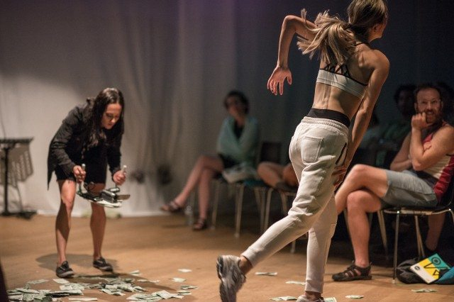 A sequence from Chase Scenes: #1-58. Photo by Dahlia Katz/SummerWorks.