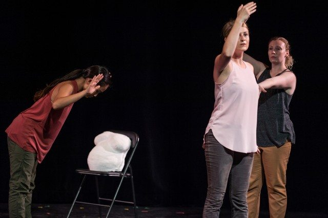 Denise Sollez, Brittany Duggan, and Catherine Murray. Photo by Dahlia Katz/SummerWorks.