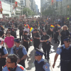 """A screenshot from """"@TorontoPolice in the 2016 Pride Parade"""" by Youtube user #HowWeDoIt TPS."""