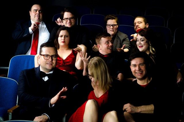 The cast of Songbuster: the Improvised Musical, playing Thursday night at Bad Dog Theatre's Summer Blockbuster Week. Photo by Connor Low.