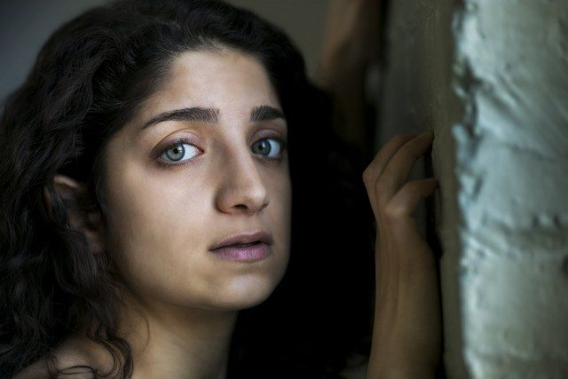 Shadi Shahkhalili as Sanaa in The Unbelievers. Photo by Bronwen Sharp.