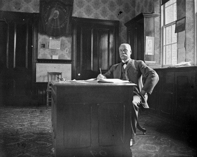 A principal at Jesse Ketchum School in Toronto in 1909. Credit: Filey, M. / Library and Archives Canada / PA-073444.
