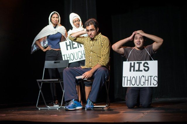 A skit from SExT. Photo by Dahlia Katz/SummerWorks.