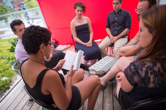 A group reading of Soliloquy in English. Photo by Dahlia Katz/SummerWorks.
