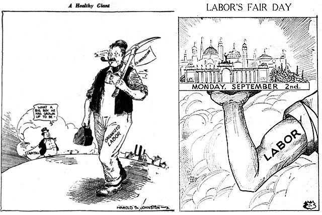 Cartoons from the Mail and Empire, September 2, 1929 (left), and the Telegram, August 31, 1929 (right).
