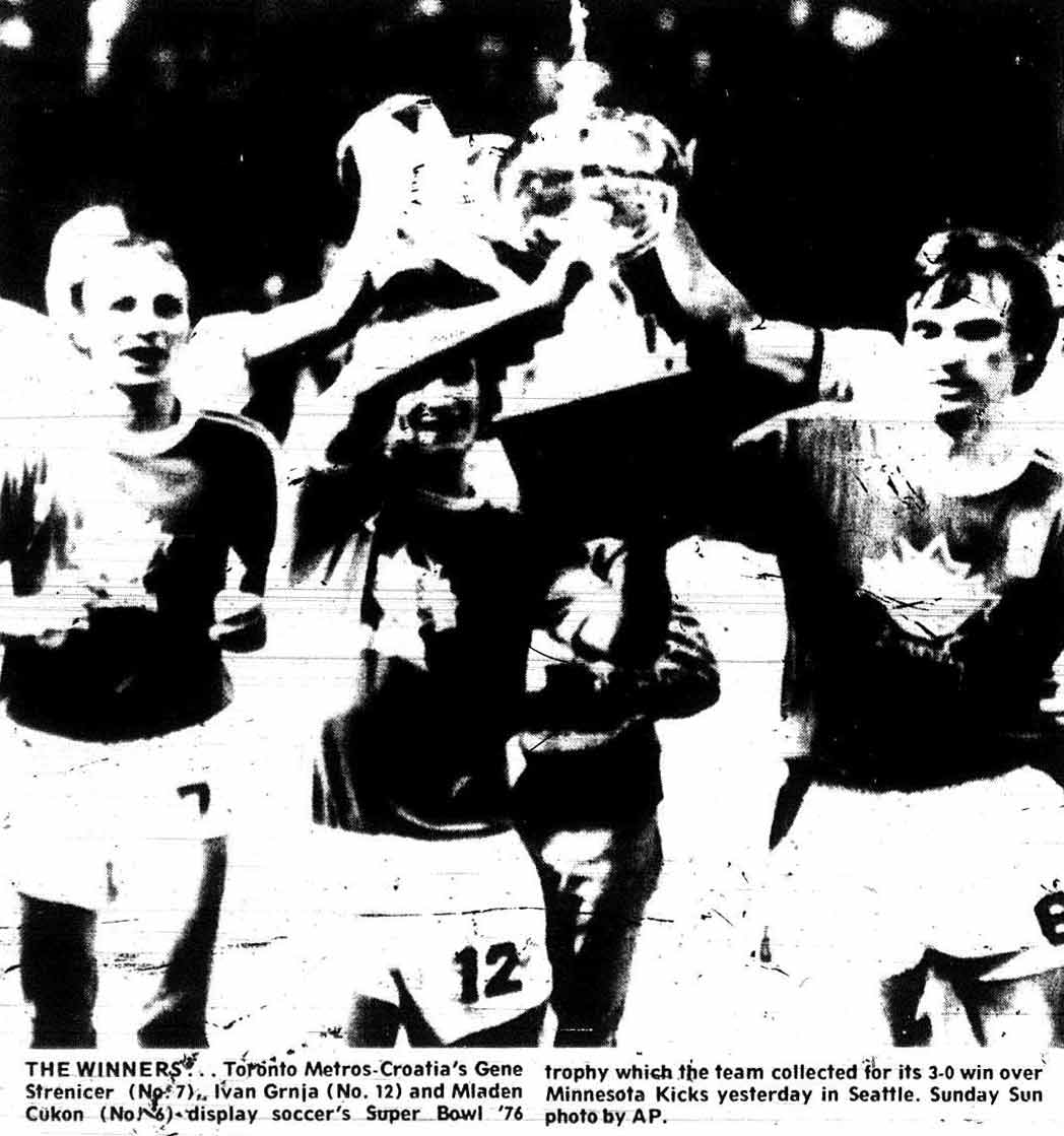 From the Toronto Sun, August 29, 1976.