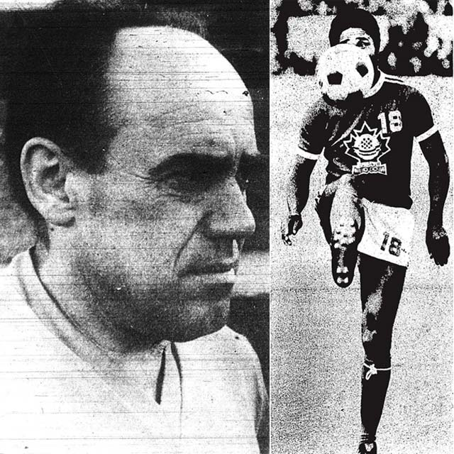 Left: coach Ivan Markovic, Toronto Sun, July 11, 1976. Right: Eusébio, Toronto Star, April 28, 1976.