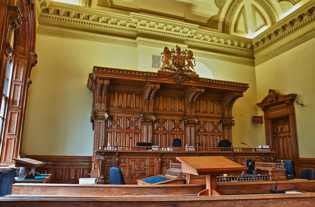 Courtroom 2 at Osgoode Hall. Photo by twurdemann from the Torontoist Flickr Pool.