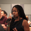 Keira Grant was among speakers at the town hall.