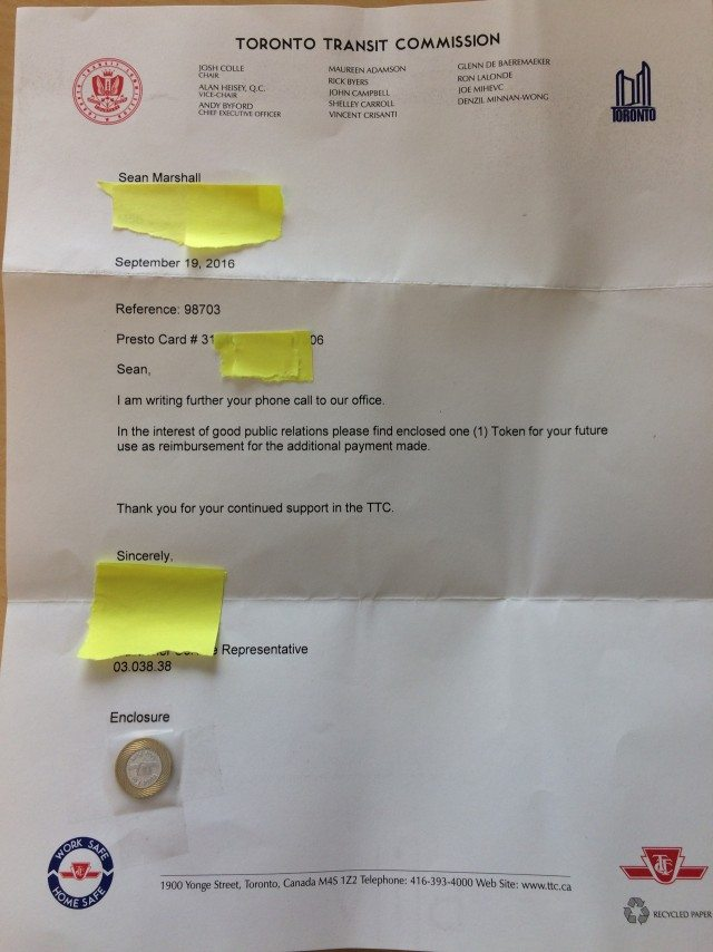 The letter with the token.
