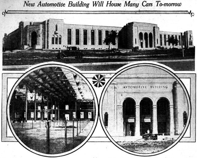 The new Automotive Building waits for its first visitors at the Canadian National Exhibition. The Telegram, August 22, 1929.