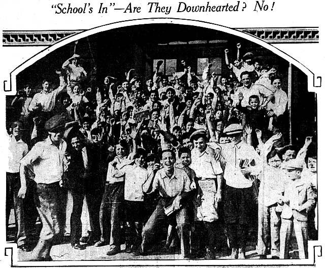 Were any of these students heading back to school among those who spent time at the Lost Children Building at the CNE? The Telegram, September 3, 1929.