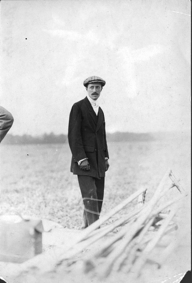Jacques de Lesseps at the 1910 aviation meet.  City of Toronto Archives, Fonds 1244, Item 98.