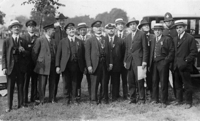 Officials on hand for the aviation meet.  City of Toronto Archives, 	Fonds 1244, Item 91.