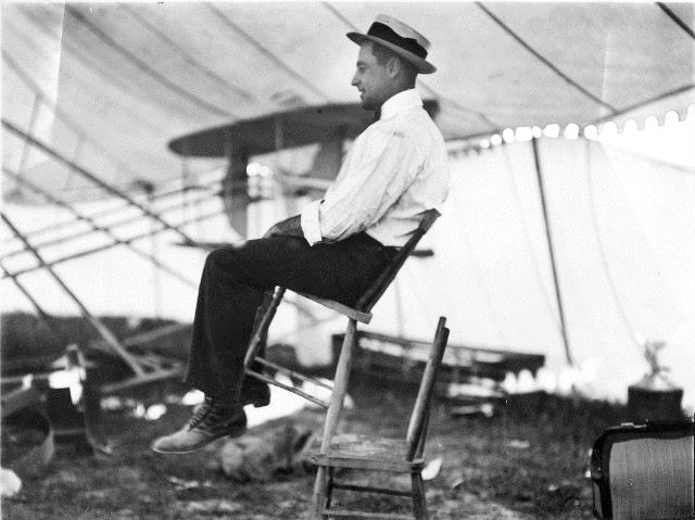 Ralph Johnstone, generating a bit of excitement closer to land.  City of Toronto Archives, Fonds 1244, Item 4526.