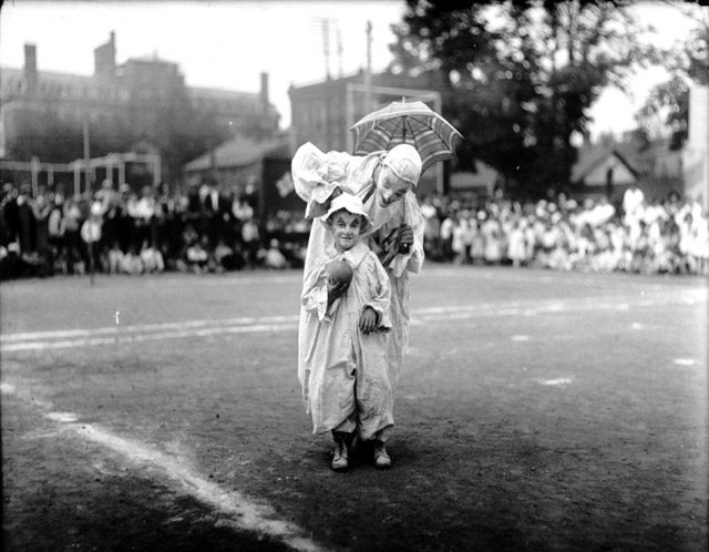 Clowns at Elizabeth Playgrounds, August 11, 1917. City of Toronto Archives, Fonds 200, Series 372, Subseries 52, Item 688.