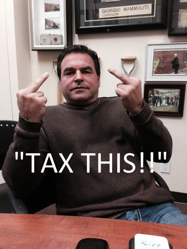 Real photo sent in a real press release by a real councillor, Giorgio Mammoliti (Ward 7, York West)