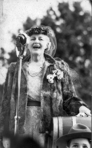 Lady Eaton at microphone. - [1933?]