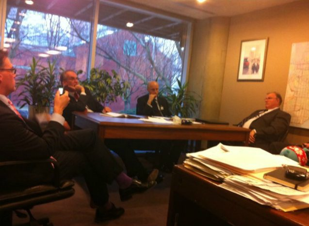 On February 21, 2012, TTC General Manager Gary Webster waits with senior staff to learn his fate. He would be dismissed without cause that afternoon.