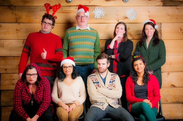 The 2016 cast of Evany Rosen's The Pageant holiday show at Bad Dog Theatre. Photo by Connor Low.