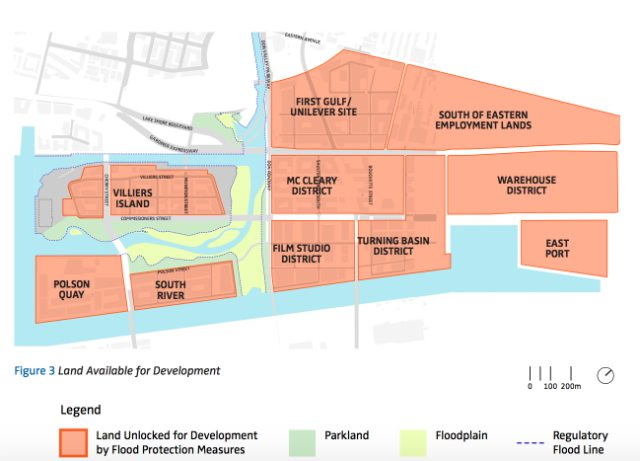 Image of Port Lands development opportunities from the due diligence report, p. 29.