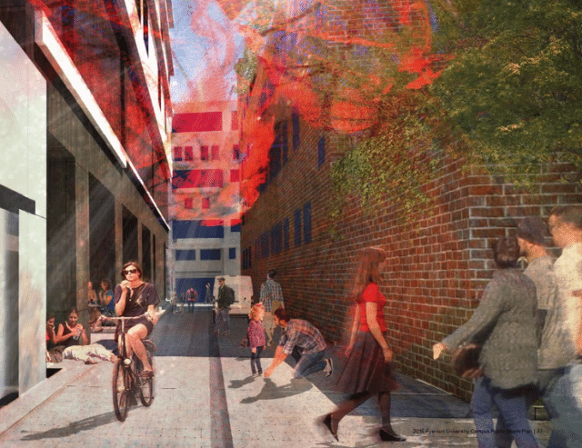 Ryerson's Public Realm Plan focuses, in part, on laneways. Photo courtesy of the Public Realm Plan.