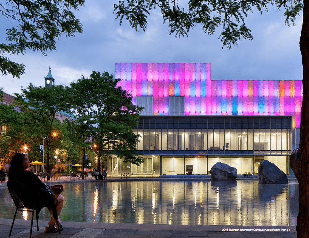 Ryerson's Image Centre. Photo courtesy of the Public Realm Plan.