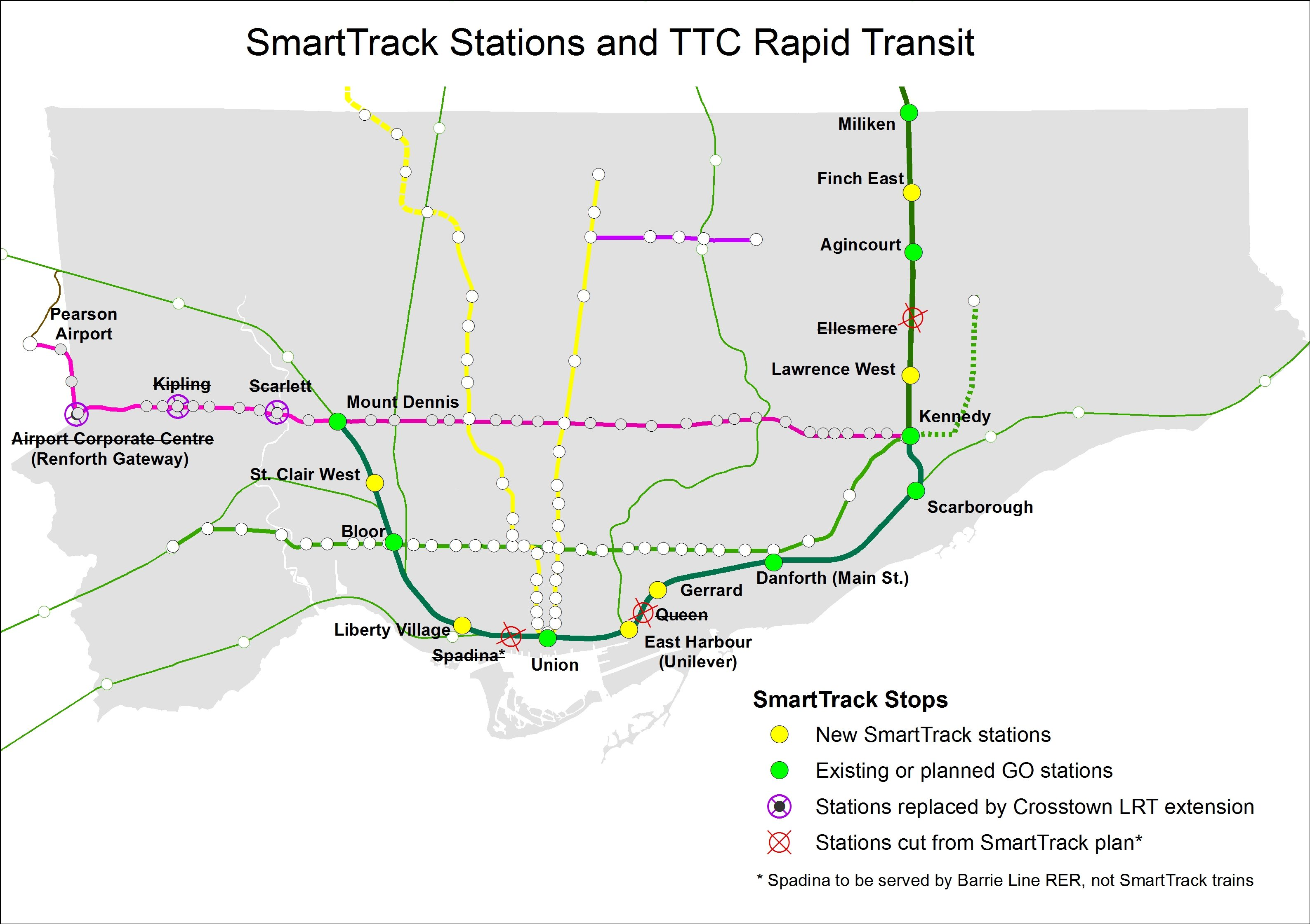 Smart Track Map Here's What the Development Opportunities at SmartTrack Stations