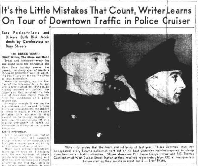 The Globe and Mail, December 15, 1938.