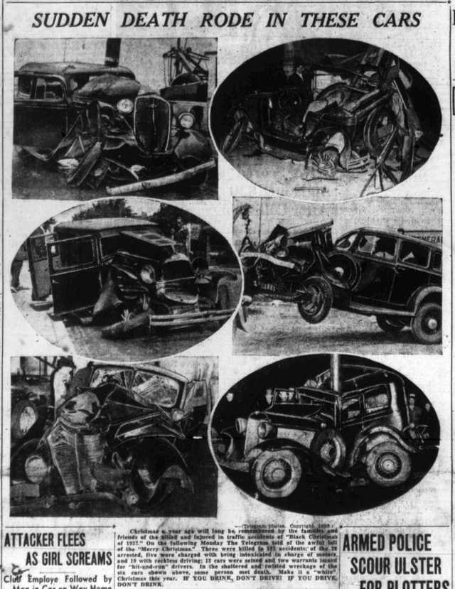 These photo arrays were frequently seen in Toronto newspapers in the 1930s.  The Toronto Telegram, December 23, 1938.