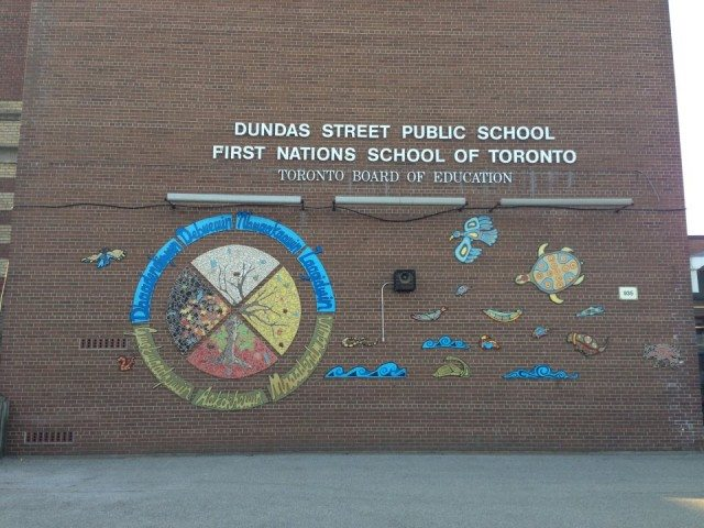 The First Nations school is currently located at 935 Dundas Street East, but it will move in January. Photo courtesy of First Nations Junior and Senior School of Toronto Facebook page.