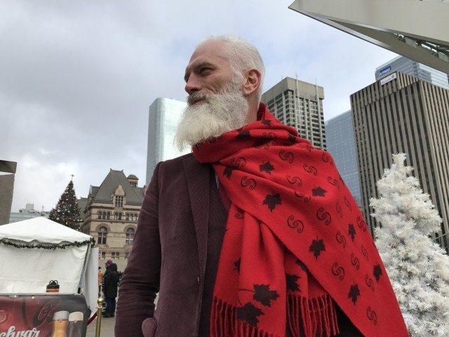 Paul Mason is Fashion Santa. Photo by Will Sloan.