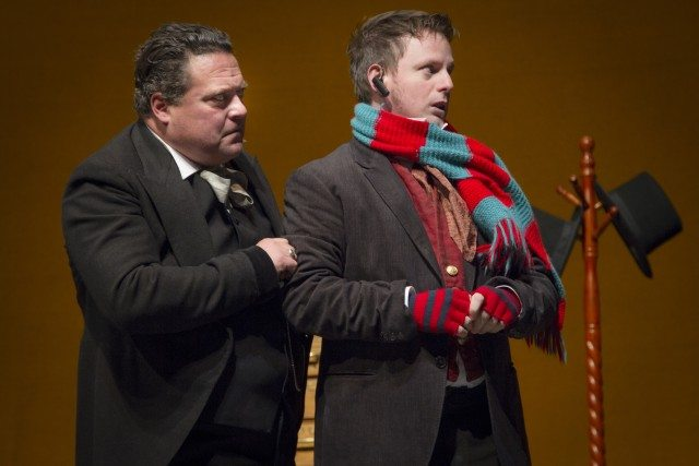 Sean Cullen and Jason DeRosse in Twist Your Dickens. Photo by Paul Aihoshi.